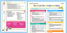 Outdoor Construction Area Continuous Provision Poster Reception FS2