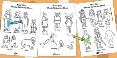 Peter Pan Words Colouring Sheet