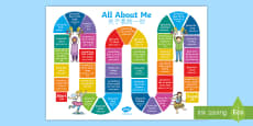 All About Me Board Game English/Mandarin Chinese