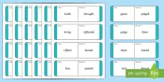 Past Tense Verbs Loop Cards
