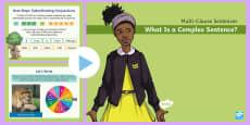 Multi-Clause Sentences KS2: What Is a Complex Sentence? PowerPoint