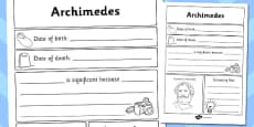 Archimedes Significant Individual Writing Frame