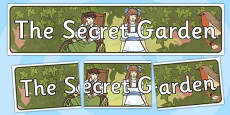 The Secret Garden Display Banner