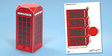 London Phone Box Paper Model