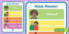 Noise Monitor Display Poster