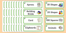 Kingfisher Themed Editable Classroom Resource Labels