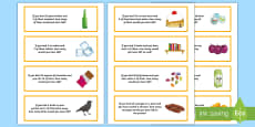 Subtraction Word Problem Word Cards