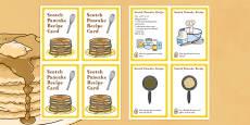 Scotland Scotch Pancake Recipe Card