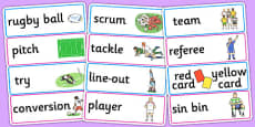 Rugby World Cup 2015 Word Cards