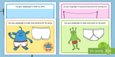 Playdough Mats to Support Teaching on Aliens Love Underpants