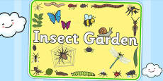 Insect Garden Area Sign