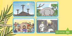 Tarjetas educativas: La historia de la Semana Santa