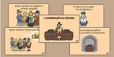The Gunpowder Plot Story Sequencing Portuguese