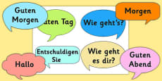 Social Greetings Prompt Cards German