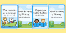 Reading Comprehension Cards Arabic Translation