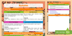 Aistear Autumn Planning Overview