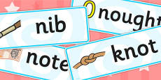 Initial n Sound Word Cards