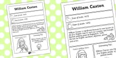 William Caxton Significant Individual Fact Sheet