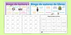 Book Reading Bingo Spanish