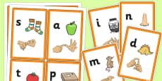 Phase 2 Sound Flash Cards with British Sign Language
