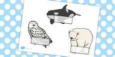 Editable Self Registration Labels (Arctic Animals)
