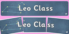Leo Class Constellation Themed Display Banner