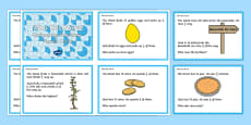 Compare Different Fractions of Amounts Challenge Cards