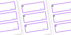 Magical Themed Editable Drawer-Peg-Name Labels (Blank)