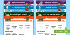 Science Curriculum Year 3 Objectives Editable Display Posters