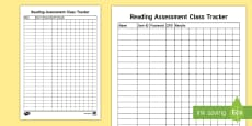 Reading Quiz Assessment Tracker