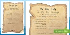 Waitangi Day Classroom Treaty  Display Poster - Te Reo Maori/English