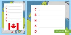 Canada Acrostic Poem
