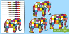 100 High Frequency Words on Elmer to Support Teaching on Elmer