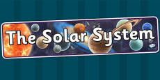 The Solar System Display Banner Detailed Images