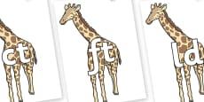 Final Letter Blends on Giraffe