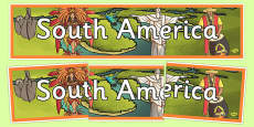 South America Display Banner