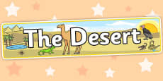 The Desert Display Banner