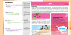 PlanIt - Science Year 3 - Light Planning Overview