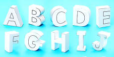 3D Display Letters Paper Models