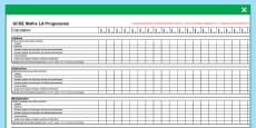 GCSE Maths Low Ability Progression Spreadsheet