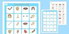 My Body Vocabulary Matching Mat Cymraeg
