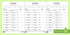 Place Value Code Breaking Activity Sheet Pack English/Romanian