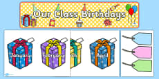 Editable Birthday Display Set (Presents)