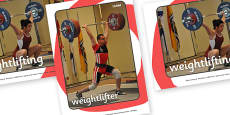 The Olympics Weightlifting Display Photo