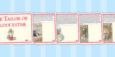 The Tailor of Gloucester Story Cards (Beatrix Potter)