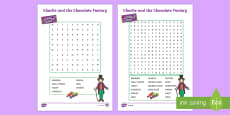 Australia - Word Search to Support Teaching on Charlie and the Chocolate Factory