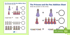 Princess and the Pea Addition Sheet