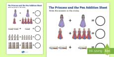 Princess and the Pea Addition Sheet