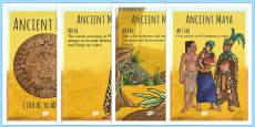 Mayan Civilisation Timeline Posters