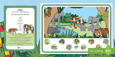 Can You Find...? Poster and Prompt Card Pack to Support Teaching on Elmer